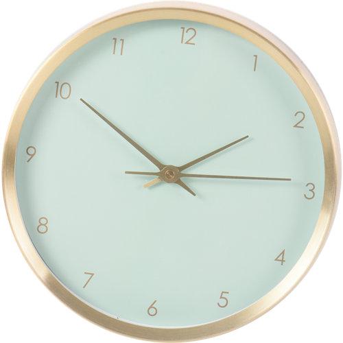 Reloj de pared redondo verde de 30 cm