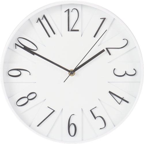 Reloj plástico blanco ø30 cm