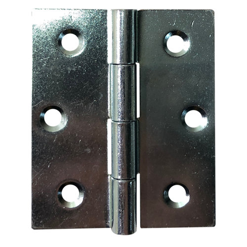 Bisagra cuadrada plateado 5x60x70 mm cc