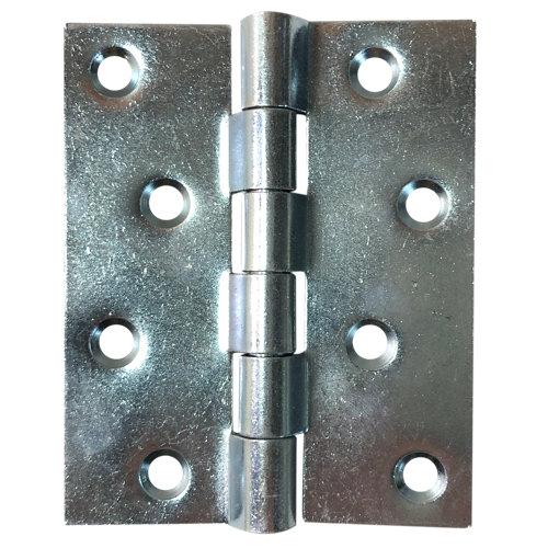 Bisagra cuadrada plateado 6x80x100 mm cc