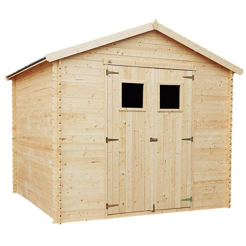 Caseta de madera vilna 6,81 m2 de 266x236x256 cm y 6.81 m2