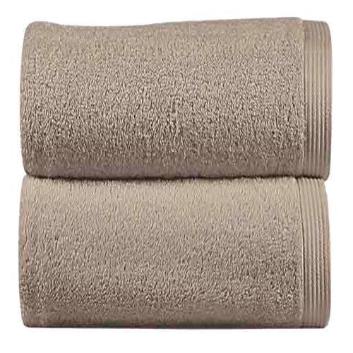 Toalla de algodón beige 70 x 140 cm