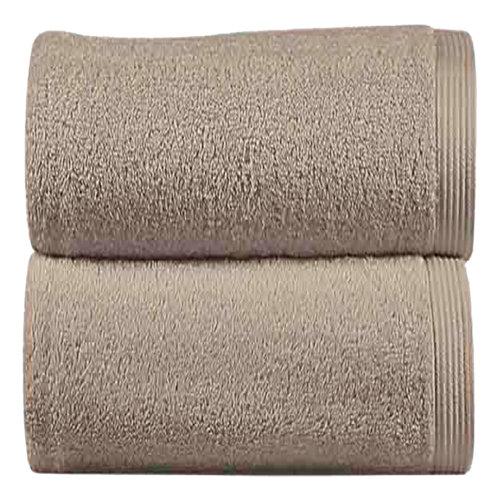 Toalla de algodón beige 100 x 150 cm