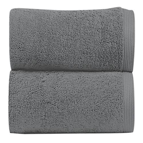 Toalla de algodón gris / plata 50 x 100 cm
