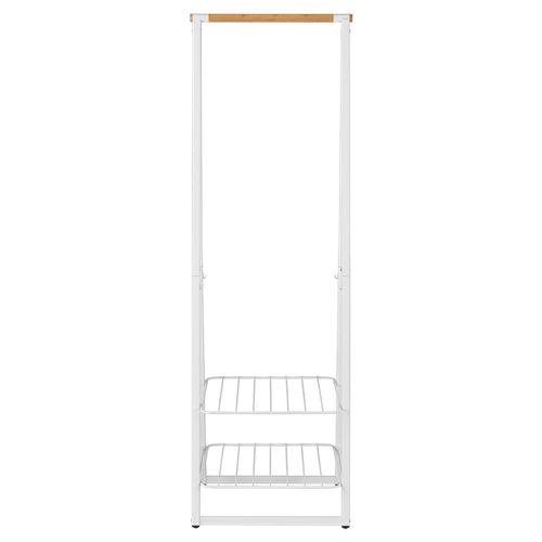 Perchero portátil linn mini blanco 2 estantes 190x60x57cm