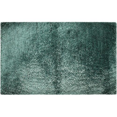 Alfombra de baño neo rectangular verde 50x80 cm