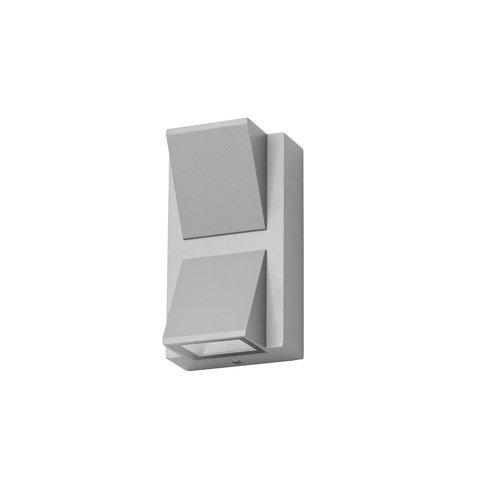 Aplique de exterior loyd 2 x led 4.1 gris