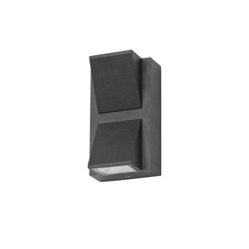 Aplique de exterior loyd 2 x led 4.1 negro