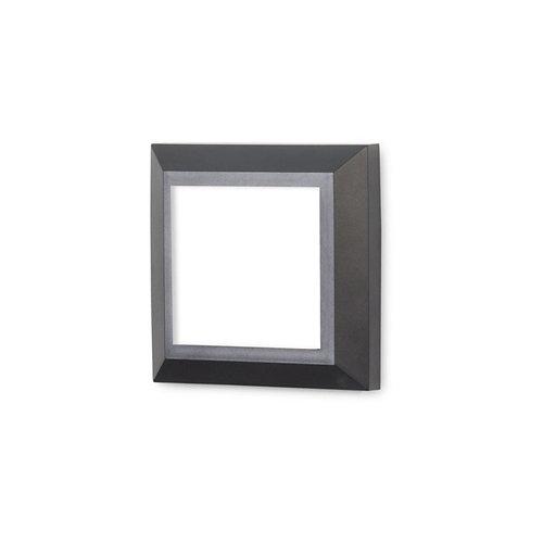 Aplique de exterior grove 45 x led 2 negro gris