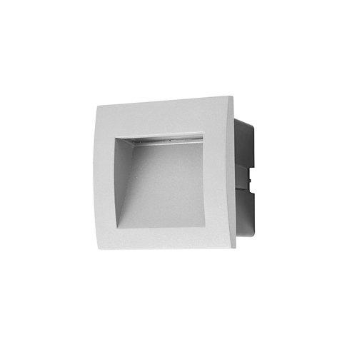 Empotrable de pared face 15 x led 1 gris