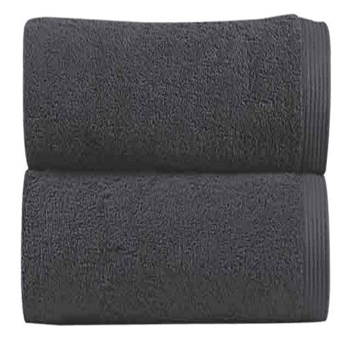 Toalla de algodón gris / plata 30 x 50 cm