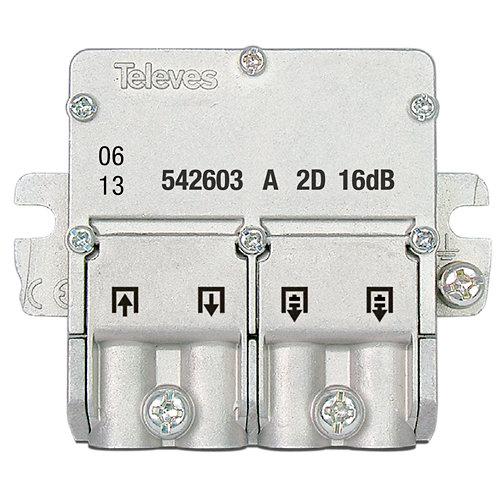 Repartidor de señal de tv con derivación ict a 2d-16db