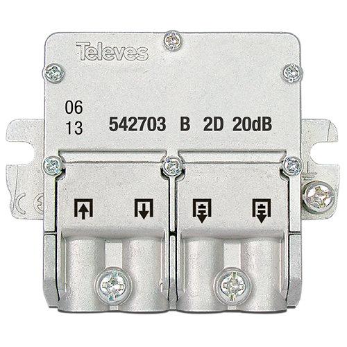 Repartidor de señal de tv con derivación ict b 2d-20db