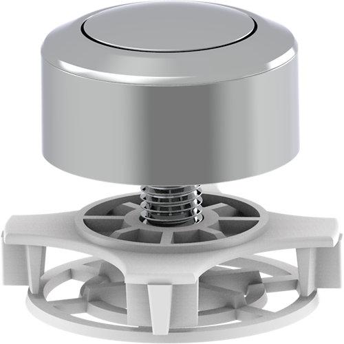 Repuesto de pulsador interrumpible cromado para cisterna eq