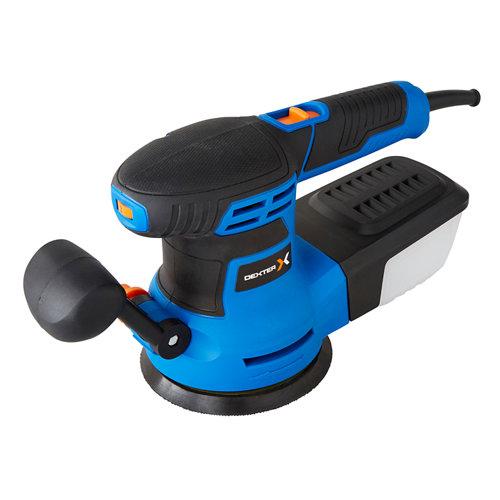 Lijadora excéntrica dexter power v de 125mm/300 w