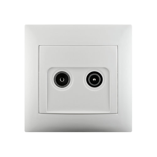 Toma tv intermedia monoblock lika color blanco