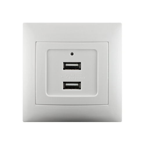 Cargador con 2 usb lika color blanco