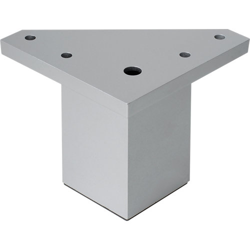 Pata fija albufera plástico gris h60 40x40