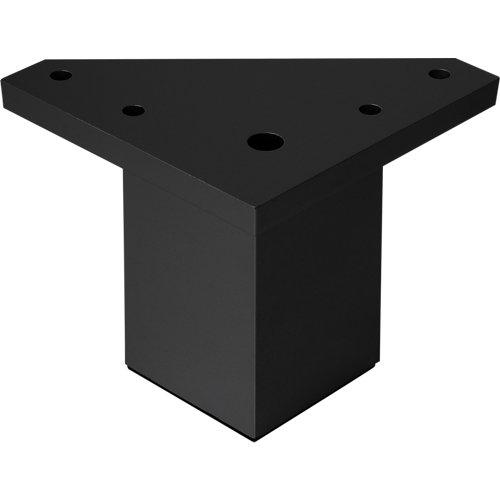 Pata fija albufera plástico negro h60 40x40
