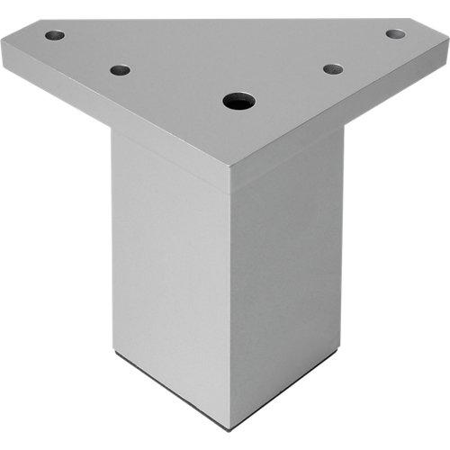 Pata fija albufera plástico gris h80 40x40