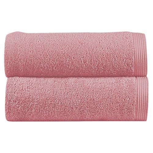 Toalla de algodón rosa 100 x 150 cm