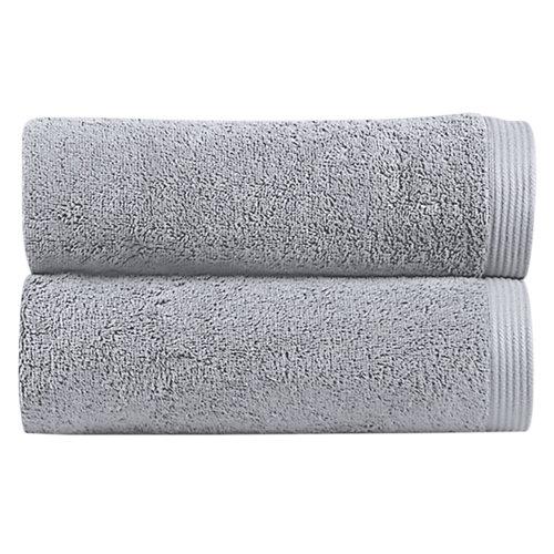 Toalla de algodón gris / plata 100 x 150 cm