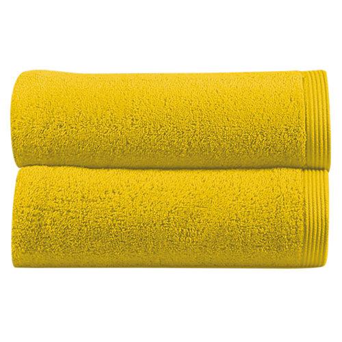 Toalla de algodón amarillo / dorado 100 x 150 cm