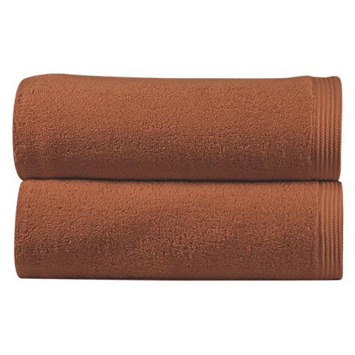 Toalla de algodón marrón 30 x 50 cm
