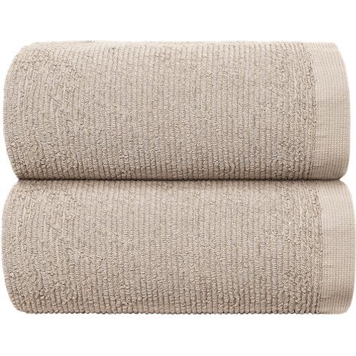 Toalla de algodón beige 30 x 50 cm