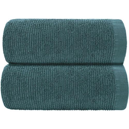 Toalla de algodón verde 95 x 150 cm