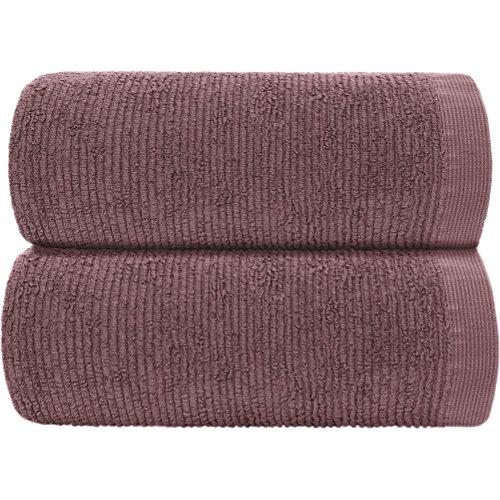 Toalla de algodón rojo 70 x 140 cm