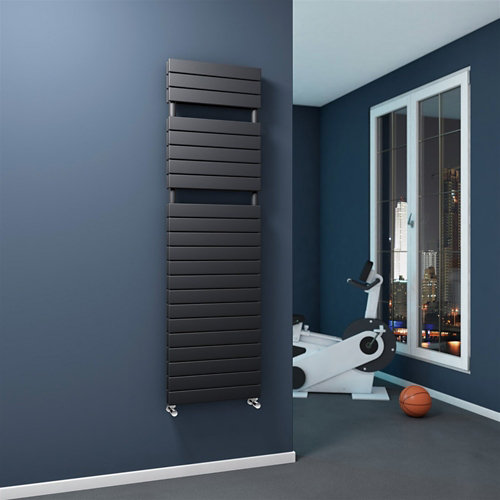 Radiador toallero plain doble antracita