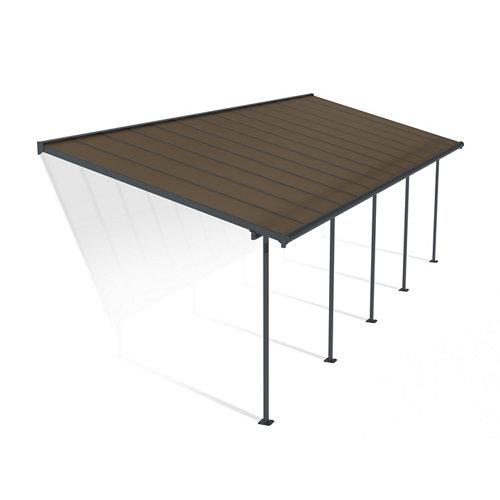 Pérgola de aluminio capri gris de 295x860 cm