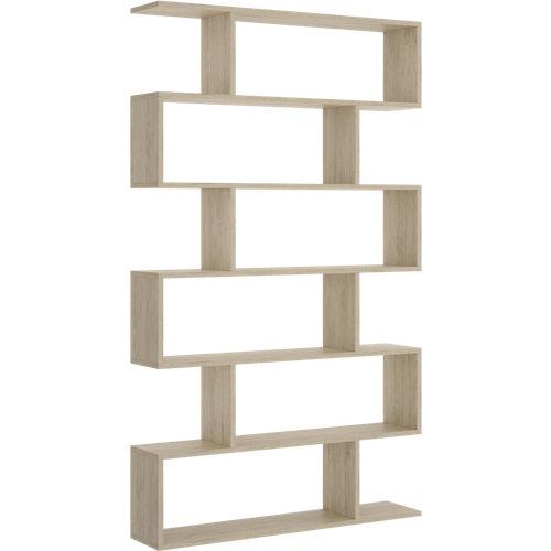 Estantería de madera en kit atik de 80x190x25 cm y carga max. 5 kg por balda