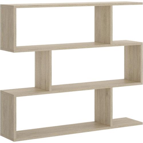 Estantería de madera en kit de melamina de 25x110 cm y carga max. 5 kg por balda