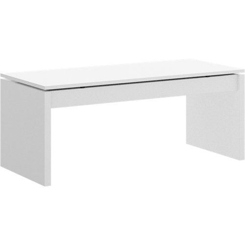 Mesa elevable de centro luca blanco brillante 100x43x50 cm