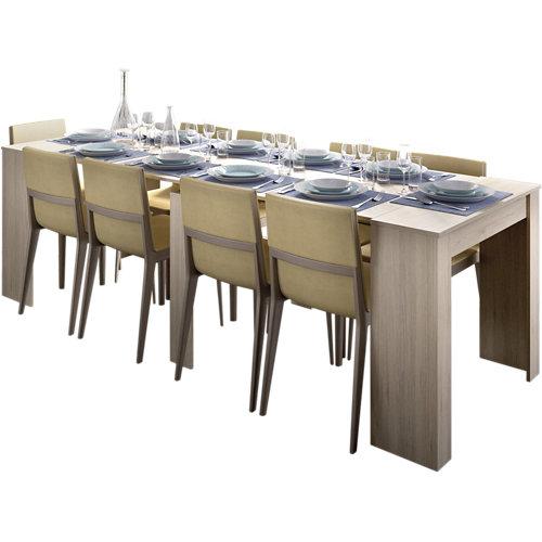 Mesa extensible de madera kiona de 54 a 239 cm beige.