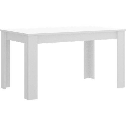 Mesa extensible de madera dine de 140 a 190 cm blanco