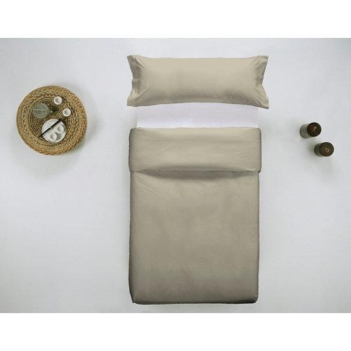 Funda nórdica cama 90 percal liso avena w.g.