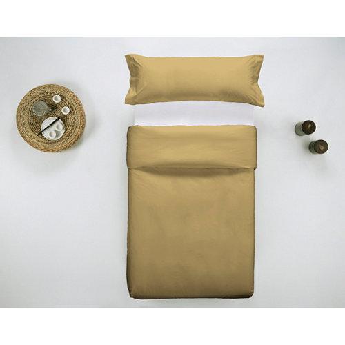 Funda nórdica cama 105cm percal liso mostaza w.g.