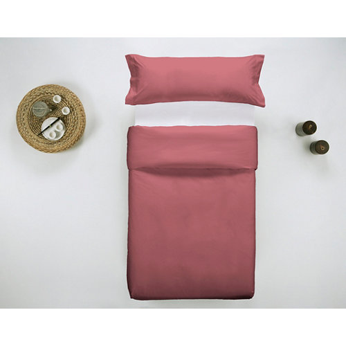 Funda nórdica cama 105cm percal liso smokey red w.g.