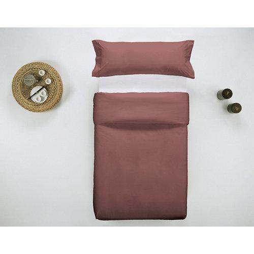 Funda nórdica cama 105cm percal liso teja w.g.
