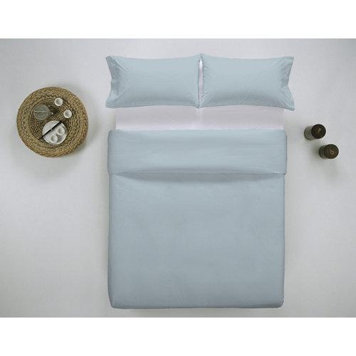 Funda nórdica cama 135cm percal liso baby blue w.g.