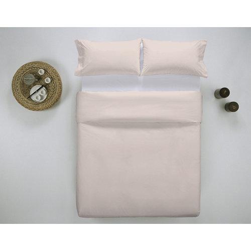 Funda nórdica cama 135cm percal liso baby pink w.g.