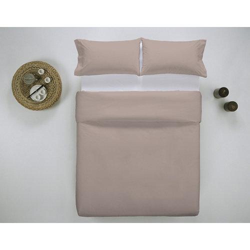 Funda nórdica cama 135cm percal liso smokey pink w.g.