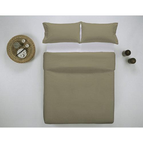 Funda nórdica cama 150cm percal liso bronce w.g.