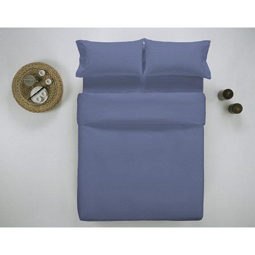 Funda nórdica cama 180cm percal liso blueberry w.g.