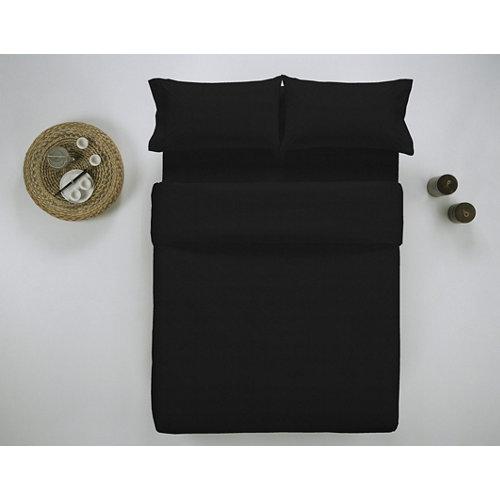 Funda nórdica cama 180cm percal liso negro w.g.