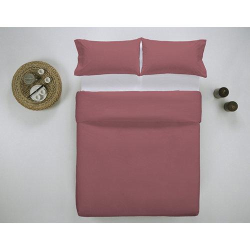 Funda nórdica cama 180cm percal liso smokey red w.g.