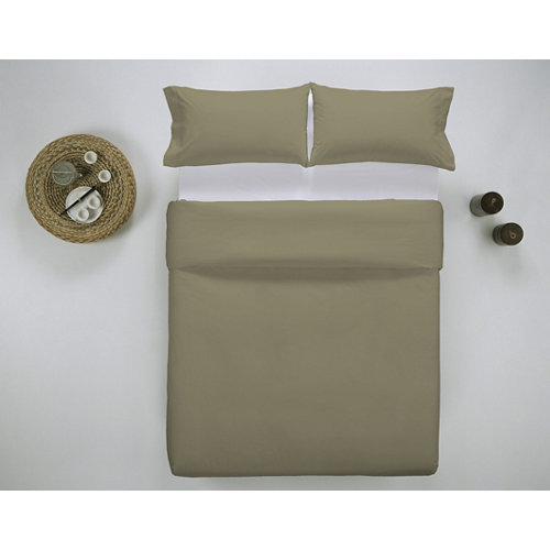 Funda nórdica cama 200cm percal liso bronce w.g.
